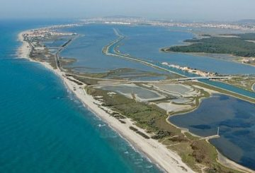 Beaches and lagoons outside Montpellier